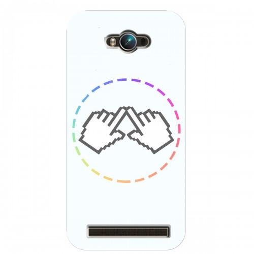 """Чехол для Asus ZenFone Max/ZC550KL с принтом """"Логотип"""""""