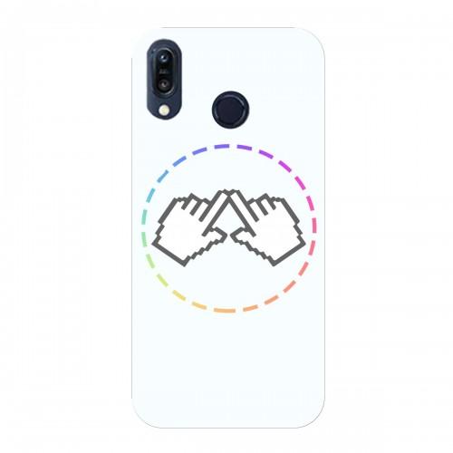 """Чехол для Asus ZenFone Max M1/ZB555KL с принтом """"Логотип"""""""