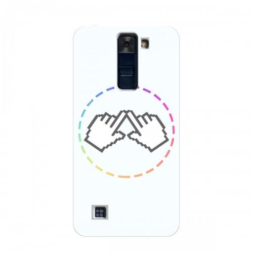 """Чехол для LG K8 (2018)/K350E с принтом """"Логотип"""""""