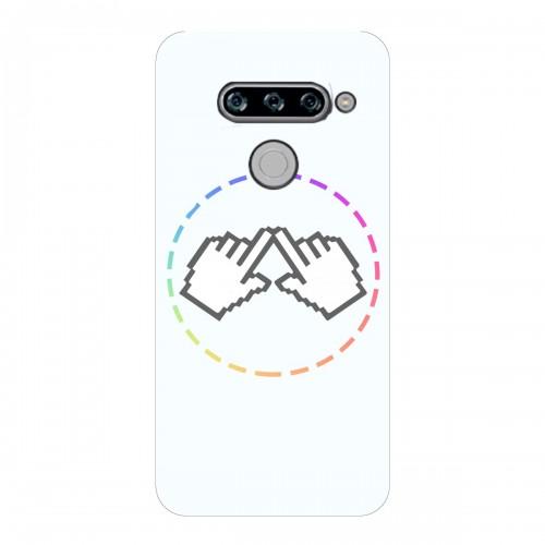 "Чехол для LG V 40 ThinQ (2018) с принтом ""Логотип"""