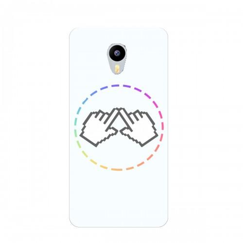 """Чехол для Meizu M3E с принтом """"Логотип"""""""