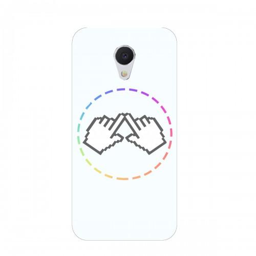 """Чехол для Meizu M5/Meilan 5 с принтом """"Логотип"""""""