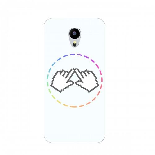 """Чехол для Meizu MX5 с принтом """"Логотип"""""""