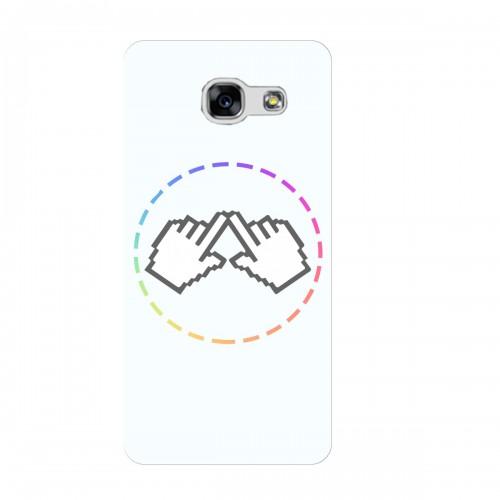 """Чехол для Samsung Galaxy A5 2017 с принтом """"Логотип"""""""