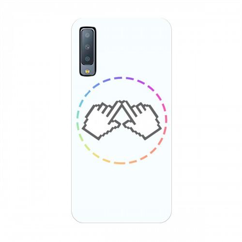 """Чехол для Samsung Galaxy A7 (2018) с принтом """"Логотип"""""""
