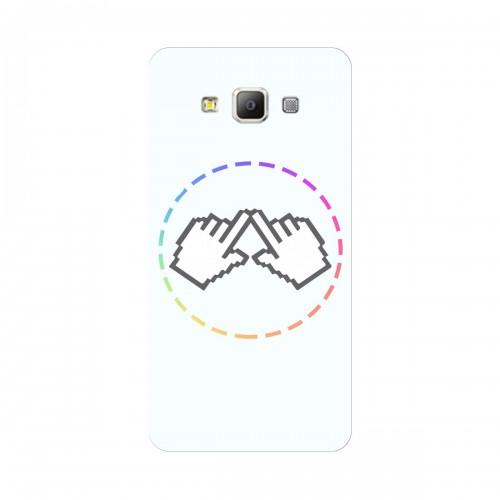 """Чехол для Samsung Galaxy A7 Duos/A700FD/A700F с принтом """"Логотип"""""""