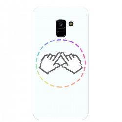 """Чехол для Samsung Galaxy A8 (2018) с принтом """"Логотип"""""""