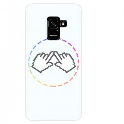 """Чехол для Samsung Galaxy A8 Plus (2018) с принтом """"Логотип"""""""