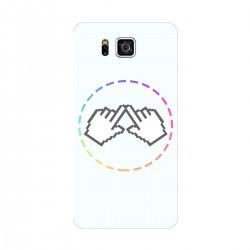 """Чехол для Samsung Galaxy Alpha/G850 с принтом """"Логотип"""""""