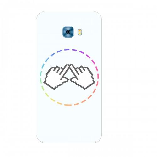 """Чехол для Samsung Galaxy C9 с принтом """"Логотип"""""""