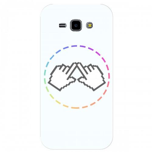 "Чехол для Samsung Galaxy J1 (2015) /J100H/DS с принтом ""Логотип"""