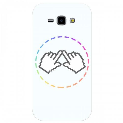 """Чехол для Samsung Galaxy J1 2016 с принтом """"Логотип"""""""