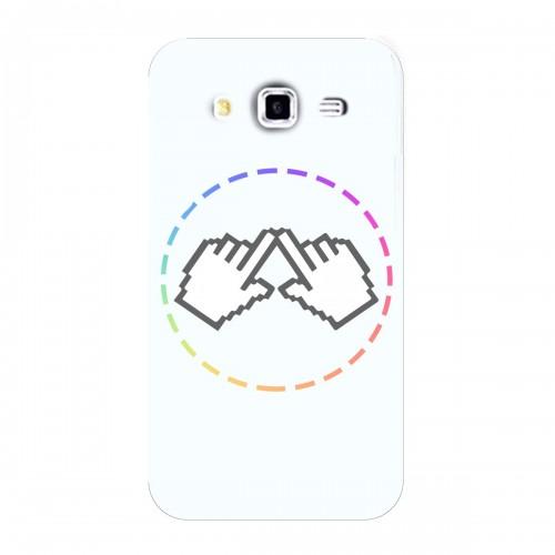"""Чехол для Samsung Galaxy J2 (2016) с принтом """"Логотип"""""""