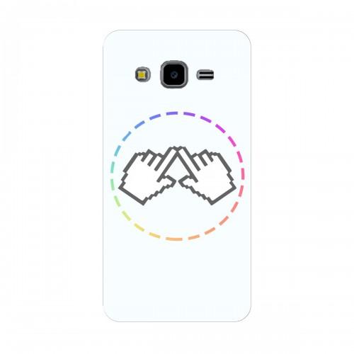 """Чехол для Samsung Galaxy J3 (2015) с принтом """"Логотип"""""""