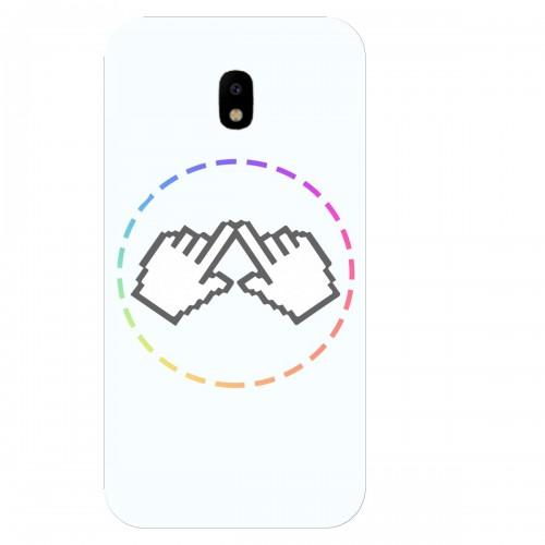 """Чехол для Samsung Galaxy J3 (2017) с принтом """"Логотип"""""""