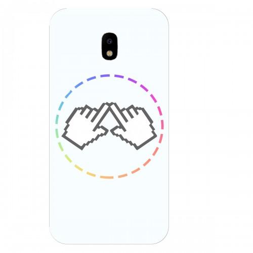 """Чехол для Samsung Galaxy J3 (2018) с принтом """"Логотип"""""""