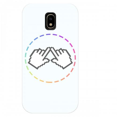 """Чехол для Samsung Galaxy J7 (2018) с принтом """"Логотип"""""""