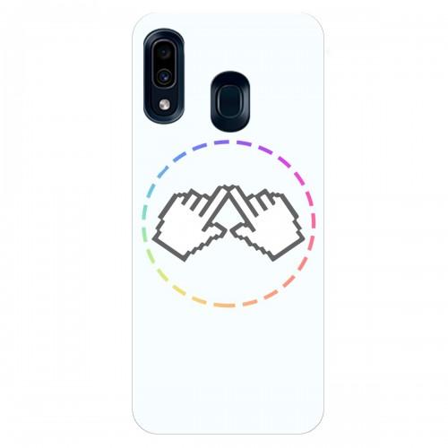 """Чехол для Samsung Galaxy A30 с принтом """"Логотип"""""""