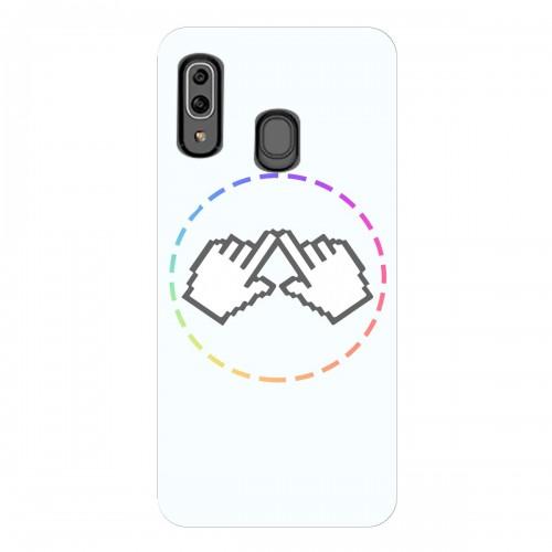 """Чехол для Samsung Galaxy A40 с принтом """"Логотип"""""""
