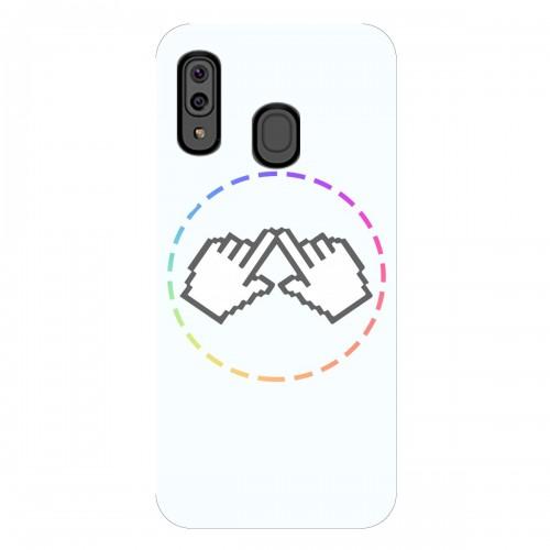 """Чехол для Samsung Galaxy M20 с принтом """"Логотип"""""""