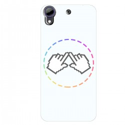 """Чехол для HTC Desire 650 с принтом """"Логотип"""""""