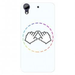 """Чехол для HTC Desire 728 с принтом """"Логотип"""""""