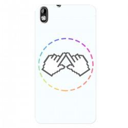 """Чехол для HTC Desire 816G Dual Sim с принтом """"Логотип"""""""