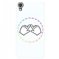 """Чехол для HTC Desire 826 с принтом """"Логотип"""""""