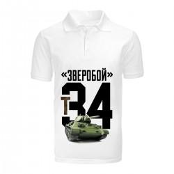 """Поло с принтом """"Т34"""""""