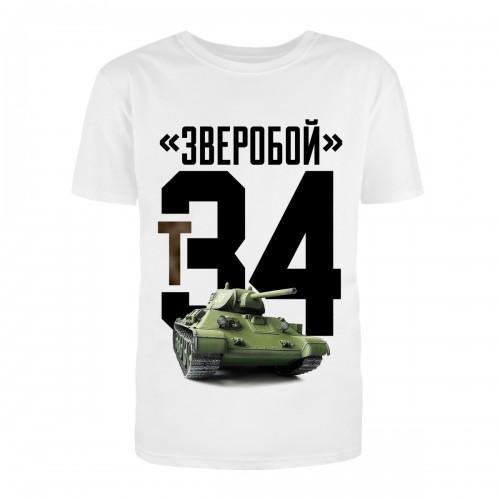 """Футболка с принтом """"Т34"""""""