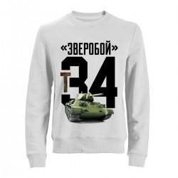 """Свитшот с принтом """"Т34"""""""