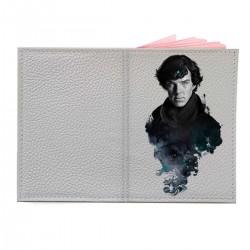 """Обложка на паспорт с принтом """"Шерлок"""""""