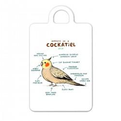 "Брелок с принтом ""Anatomy of a cockatiel"""