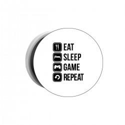 """Попсокет с принтом """"Eat, sleep, game, repeat"""""""