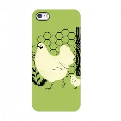 """Чехол для Apple iPhone с принтом """"Курочка с цыпленком"""""""