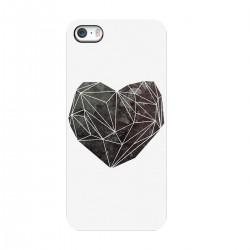 """Чехол для Apple iPhone с принтом """"Черное сердце"""""""