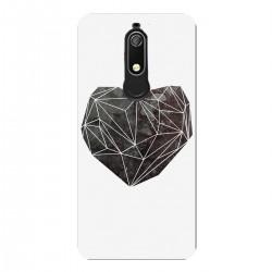"""Чехол для Nokia с принтом """"Черное сердце"""""""