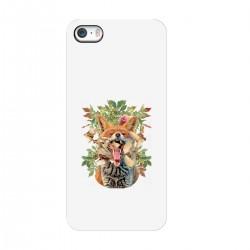 """Чехол для Apple iPhone с принтом """"Лиса и воробьи"""""""
