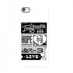 """Чехол для Apple iPhone с принтом """"Черно-белый плакат"""""""