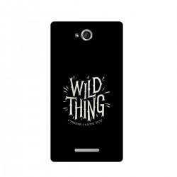 "Чехол для Sony с принтом ""Wild thing"""