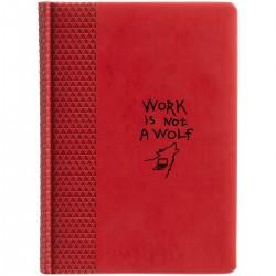 """Ежедневник с принтом """"Work is not a wolf"""""""