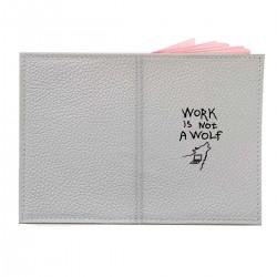 """Обложка на паспорт с принтом """"Work is not a wolf"""""""