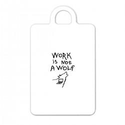 "Брелок с принтом ""Work is not a wolf"""
