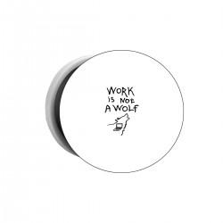 """Попсокет с принтом """"Work is not a wolf"""""""