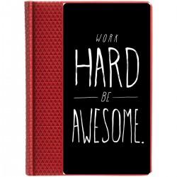 "Ежедневник с принтом ""Work hard be awesome"""