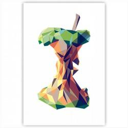 """Холст с принтом """"Геометрическое яблоко"""" (20x30cм)"""