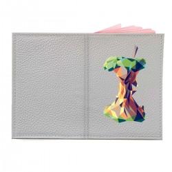 """Обложка на паспорт с принтом """"Геометрическое яблоко"""""""