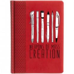 """Ежедневник с принтом """"Weapons of mass creation"""""""