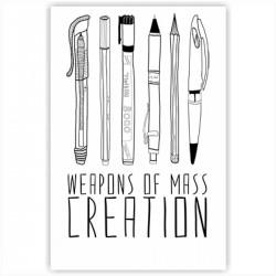 """Холст с принтом """"Weapons of mass creation"""" (20x30cм)"""
