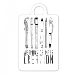 "Брелок с принтом ""Weapons of mass creation"""